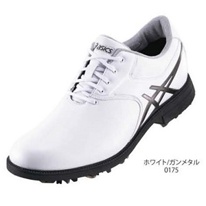 TGN918 0175WHGM25.5 アシックス メンズ・ソフトスパイク・ゴルフシューズ (ホワイト/ガンメタル 25.5cm) GEL-ACE LEGENDMASTER 2