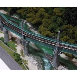 [鉄道模型]カトー (Nゲージ) 20-823 ユニトラック カーブ鉄橋セット R448-60°(緑)