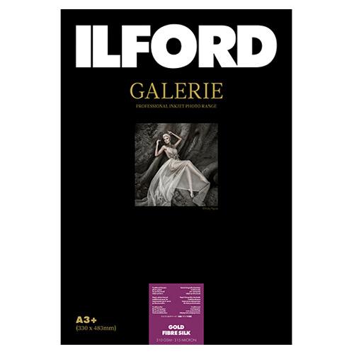 422124 イルフォード インクジェット用紙 ゴールドファイバーシルク 厚手 半光沢 A3+ 25枚 ILFORD GALERIE GOLD FIBRE SILK ギャラリー ファインアート バライタ