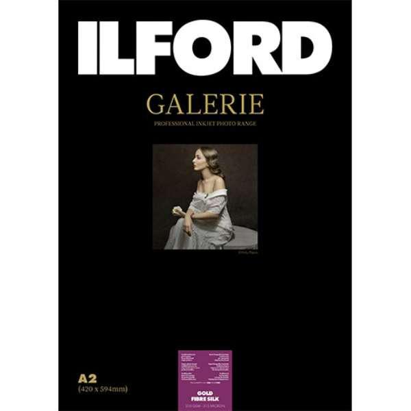 422126 イルフォード インクジェット用紙 ゴールドファイバーシルク 厚手 半光沢 A2 25枚 ILFORD GALERIE GOLD FIBRE SILK ギャラリー ファインアート バライタ