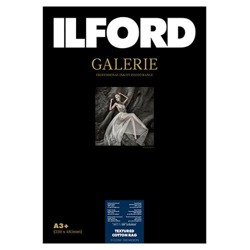 422384 イルフォード インクジェット用紙 テクスチャードコットンラグ 厚手 テクスチャードマット面質 A3+ 25枚 ILFORD GALERIE TEXTURED COTTON RAG ギャラリー ファインアート コットン