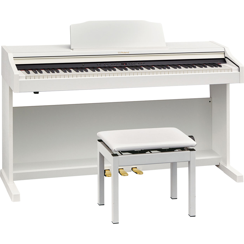 RP501R-WHS ローランド 電子ピアノ(ホワイト)【高低自在椅子&ヘッドホン&楽譜集付き】 Roland Piano Digital