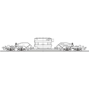 [鉄道模型]ワールド工芸 (HO) 16番 シキ1000 積載用 トランス 組立キット