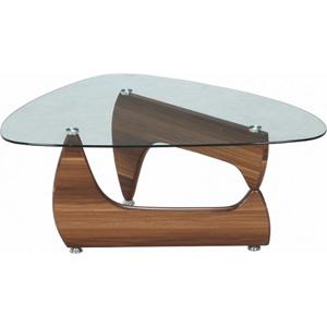96341 不二貿易 ガラスセンターテーブル ルーク(ライトウォルナット) OMEGA-A