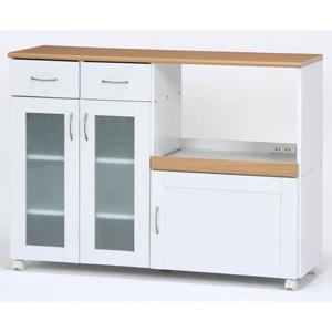 96820 不二貿易 キッチンカウンター サージュ(ホワイト/ナチュラル)120幅 SAGE