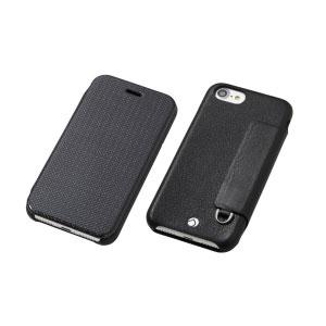 DCS-IP7PRAFCLBK ディーフ iPhone 7 Plus/6s Plus/6 Plus用 フリップレザーケース ブラック Deff RONDA Carbon & Spanish Leather Case