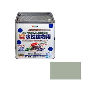 スイセイタテモノヨウ10L SGY アサヒペン 水性建物用 10L(ソフトグレー)