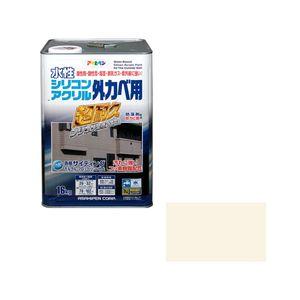 シリコンアクリルカベ16KG IV アサヒペン 水性シリコンアクリル外かべ用 16kg(アイボリー)
