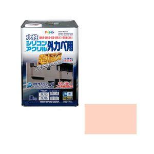 シリコンアクリルカベ16KG TR アサヒペン 水性シリコンアクリル外かべ用 16kg(ティントローズ)