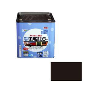 スイセイタヨウトカラ-10L BK アサヒペン 水性多用途カラー 10L(黒)