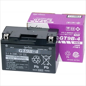 GT9B-4-GY-CZZ1 GSユアサ バイク用バッテリー 【電解液注入・充電済】【他商品との同時購入不可】