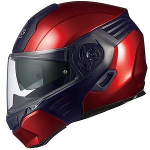 KAZAMI-RDBK-M OGKカブト システムヘルメット(シャイニーレッド/ブラック [M]) KAZAMI