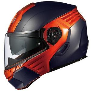 KAZAMI-BKOR-XL OGKカブト システムヘルメット(フラットブラック/オレンジ [XL]) KAZAMI