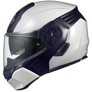 KAZAMI-WMBK-S OGKカブト システムヘルメット(ホワイトメタリック/ブラック [S]) KAZAMI