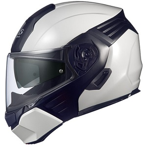KAZAMI-WMBK-XL OGKカブト システムヘルメット(ホワイトメタリック/ブラック [XL]) KAZAMI