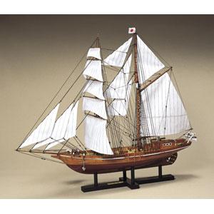 1/70 木製帆船模型 忍路丸 ウッディジョー