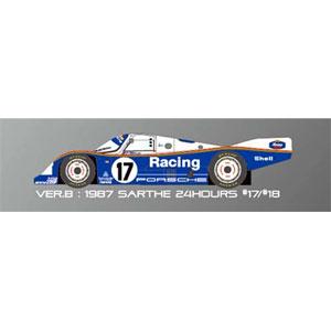 1/43 962C「Ver.B :1987 Sarthe 24hours #17 #18」【K364】 モデルファクトリーヒロ