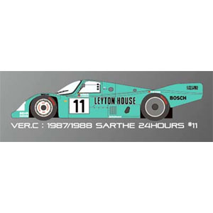 1/43 962C「Ver.C :1987 / 1988 Sarthe 24hours #11」【K365】 モデルファクトリーヒロ