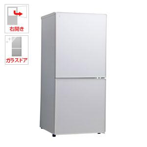 (標準設置料込)UR-FG110J-W ユーイング 110L 2ドア冷蔵庫(パールホワイト)【右開き】 UING