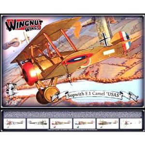 1/32 ソッピース F.1 キャメル「USAS」【WNG32072】 ウィングナット・ウィングス