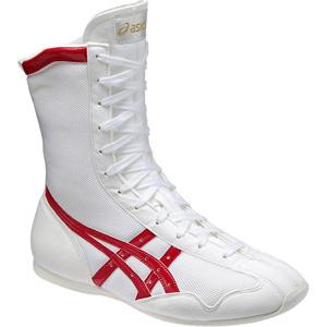 TBX704-0123-28.0 アシックス 男女兼用 ボクシングシューズ(ホワイト×レッド・28.0cm) asics ボクシングMS