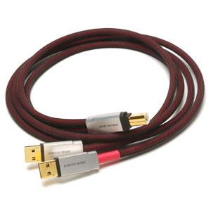 USB-5.0SP-TC アコースティックリバイブ オーディオグレードUSBケーブル(5.0m・1本)【A】タイプ(×2)⇔【B】タイプ【受注生産品】 Acoustic Revive USB-5.0SP-TripleC