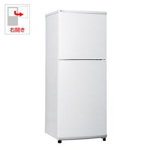 (標準設置料込)UR-F140J-W ユーイング 140L 2ドア冷蔵庫(ホワイト)【右開き】 UING