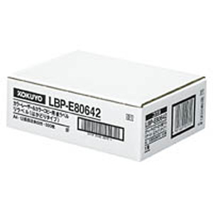 LBP-E80642 コクヨ カラーLBP&コピー用 紙ラベル(リラベル)12面 500枚 KOKUYO S&T [LBPE80642]【返品種別A】