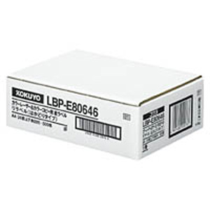 LBP-E80646 コクヨ カラーLBP&コピー用 紙ラベル(リラベル)24面 上下余白 500枚 KOKUYO S&T [LBPE80646]【返品種別A】