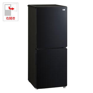 (標準設置料込)JR-NF148A-K ハイアール 148L 2ドア冷蔵庫(ブラック)【右開き】 Haier Global Series