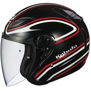 AVAND2-STAID-BKRD-M OGKカブト ジェットヘルメット カラーリング(ブラックレッド M) AVAND-II STAID [OAVAND2SBKRDM]【返品種別B】
