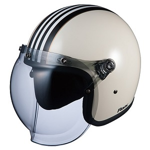 ROCKG1-WHBK OGKカブト ストリートジェットヘルメット カラーリング(ホワイトブラック 57-59cm) ROCK G1
