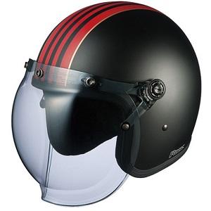 ROCKG1-BKRD OGKカブト ストリートジェットヘルメット カラーリング(フラットブラックレッド 57-59cm) ROCK G1