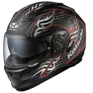 KAMUI2-TRIRUG-BKRD-L OGKカブト フルフェイスヘルメット カラーリング(フラットブラックレッド L) KAMUI 2 TRIRUG