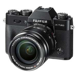 FX-T20LK-B 富士フイルム ミラーレス一眼カメラ「FUJIFILM X-T20」レンズキット(ブラック)