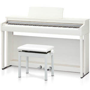 CN27-A カワイ 電子ピアノ(プレミアムホワイトメープル調仕上げ)【高低自在椅子&ヘッドホン付き】 KAWAI
