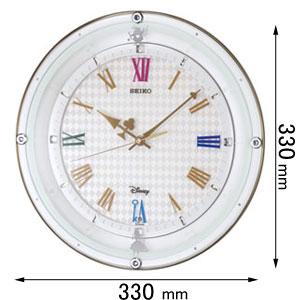 FS509W セイコークロック 電波掛け時計 【ふしぎの国のアリス】 [FS509W]【返品種別A】