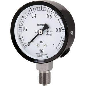 最高級 AC20-133-10.0MP 長野計器 長野計器 普通形圧力計(A枠立形 AC20-133-10.0MP・φ75・G3/8B・0.0~10.00MPA), U&JMac's:526b5a70 --- uptic.ps