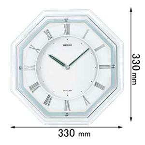 SF503W セイコークロック ソーラー電波掛け時計 SEIKO [SF503W]【返品種別A】