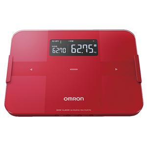 HBF-255T-R オムロン 体重体組成計 (レッド) OMRON カラダスキャン