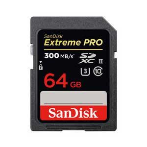 SDSDXPK-064G-JNJIP サンディスク SDXCメモリカード 64GB Class10 UHS-II エクストリーム プロ SD UHS-IIカード