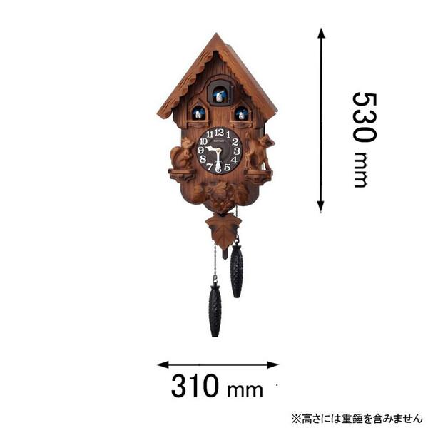 カッコーパンキーR リズム時計 鳩時計 4MJ221RH06 [カツコパンキR]【返品種別A】