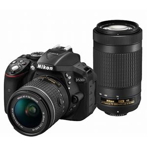D5300WZ3 ニコン デジタル一眼レフカメラ「D5300」AF-P ダブルズームキット(ブラック)