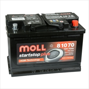 MOLL 81070 MOLL 欧州車用AGMバッテリー【他商品との同時購入不可】 AGMシリーズ