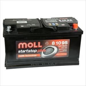MOLL 81095 MOLL 欧州車用AGMバッテリー【他商品との同時購入不可】 AGMシリーズ