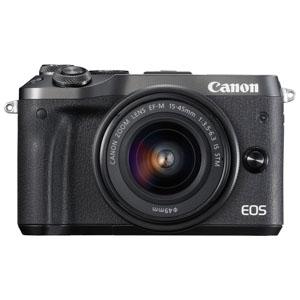 EOSM6BK-1545ISSTMLK キヤノン ミラーレスカメラ「EOS M6」EF-M15-45 IS STMレンズキット(ブラック)