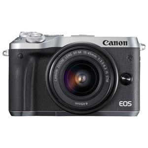 EOSM6SL-1545ISSTMLK キヤノン ミラーレスカメラ「EOS M6」EF-M15-45 IS STMレンズキット(シルバー)