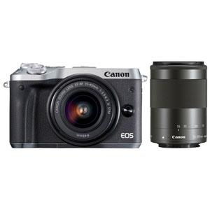 EOSM6SL-WZK キヤノン ミラーレスカメラ「EOS M6」ダブルズームキット(シルバー)