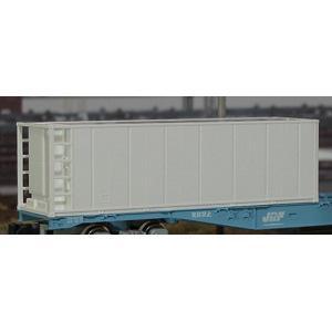 [鉄道模型]朗堂 (N) C-4101 31fコンテナ 冷凍機付 3方リブ無 妻1方開き 無塗装(3個入り)