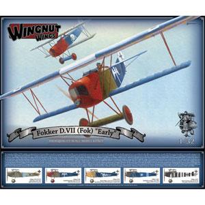1/32 フォッカー D.VII(フォッカー工場製) 前期型【WNG32067】 ウィングナット・ウィングス